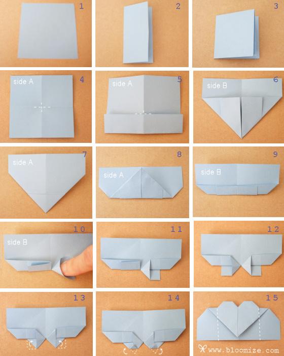 Как сделать оригами закладку для книг
