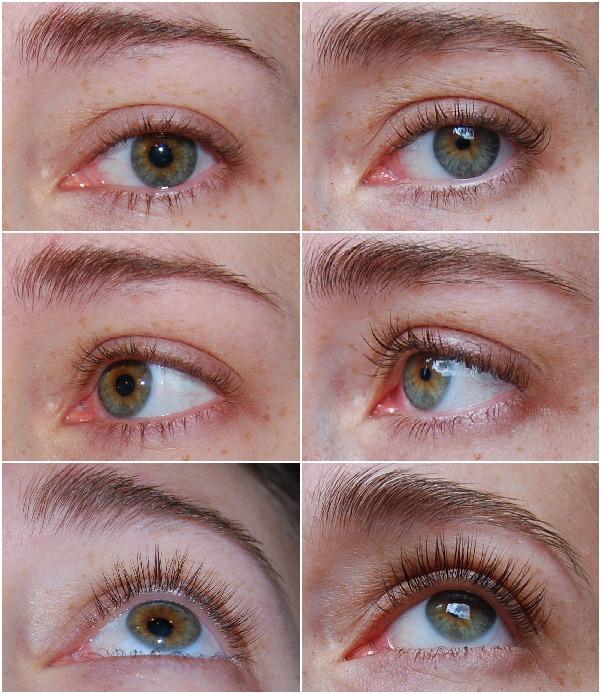 collage voor & na zonder mascara