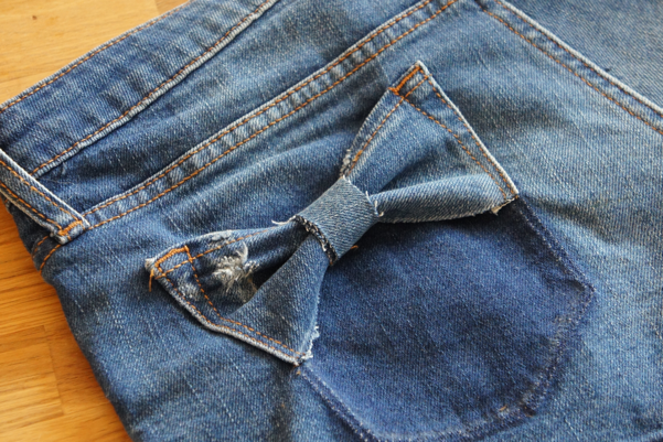 bow jeans pocket diy11