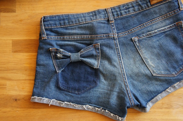 bow jeans pocket diy12