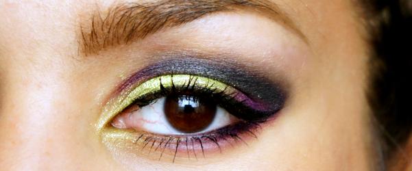 green purple eyelook beginplaatje