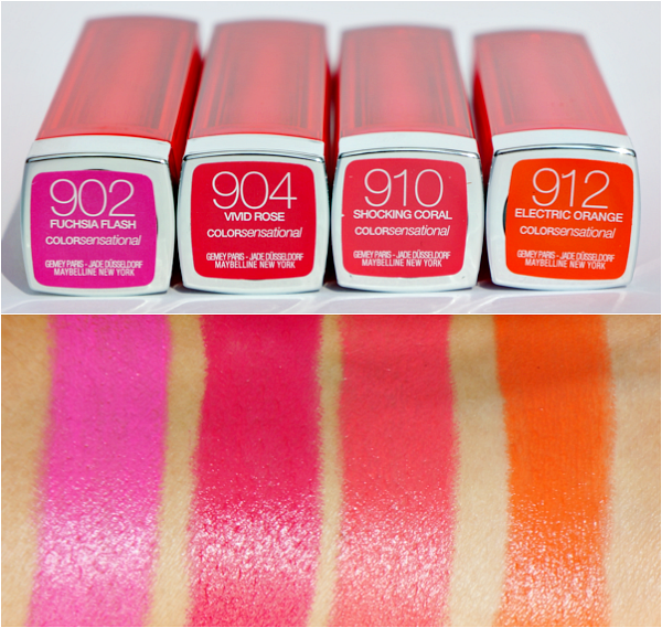 maybelline color sensational vivid swatches
