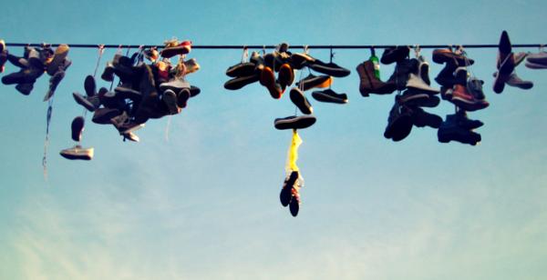 hangende schoenen