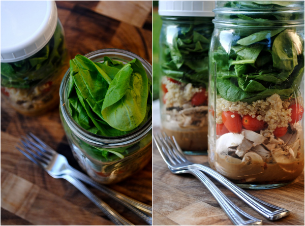 salade in een potje