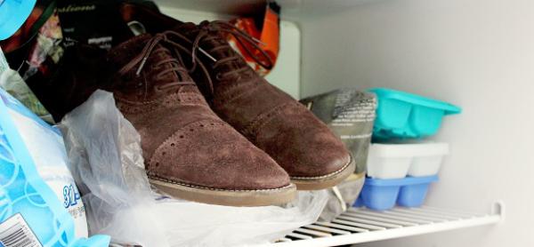schoenen in de vriezer