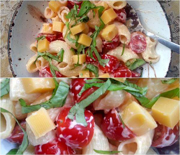 tomato basil cheese pasta
