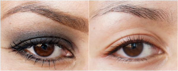 diy eyemakeup remover before after