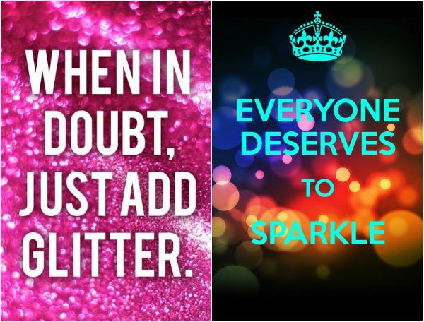 glitter i love it