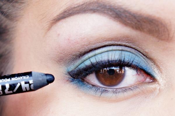 Glitter Blue eyelook10