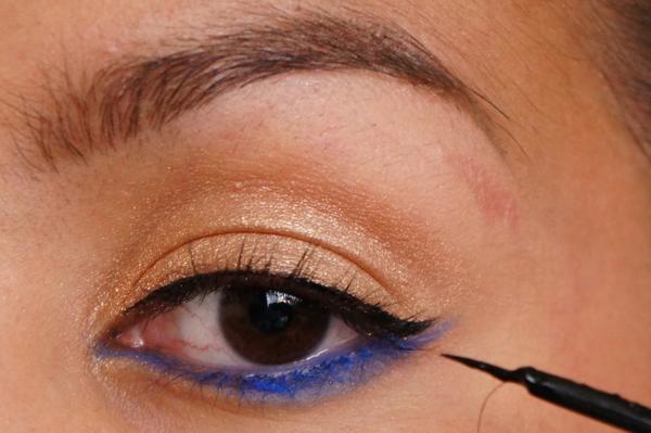 H&M electric blue eye pencil_07