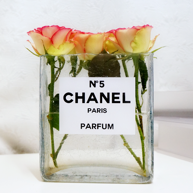 chanel perfume bottle flower vase 4