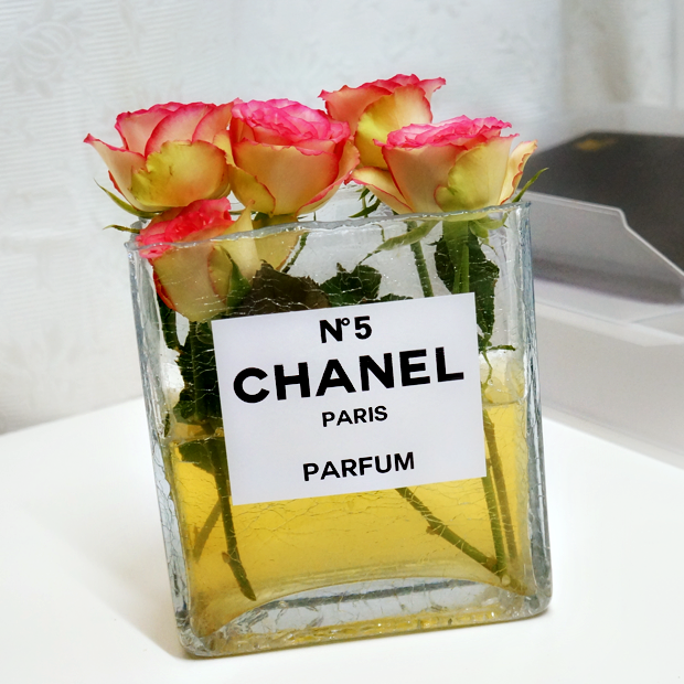 chanel perfume bottle flower vase 5