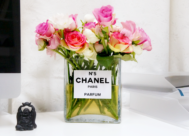 chanel perfume bottle flower vase 6