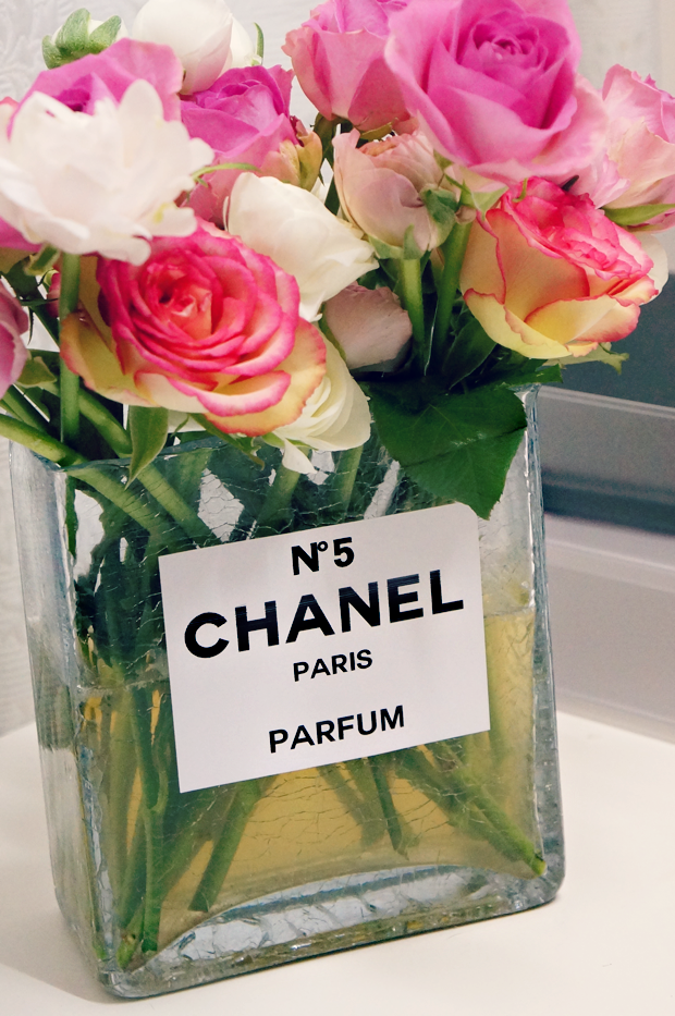 chanel perfume bottle flower vase 7