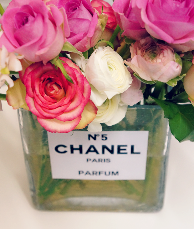 chanel perfume bottle flower vase 8