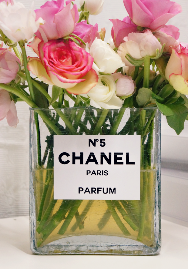 chanel perfume bottle flower vase 9