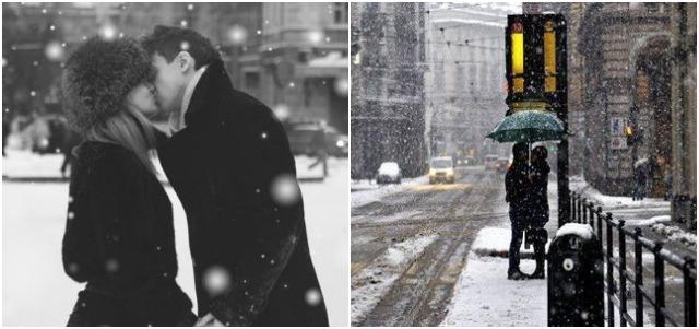 romantiek in de sneeuw