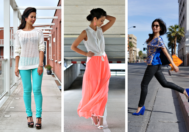 kleurrijke outfits