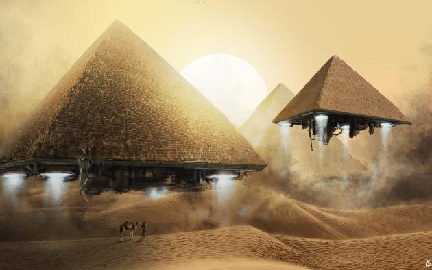ufo pyramids