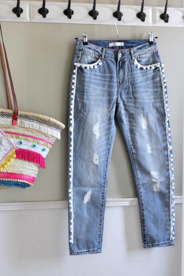 diy easy pom pom jeans-5