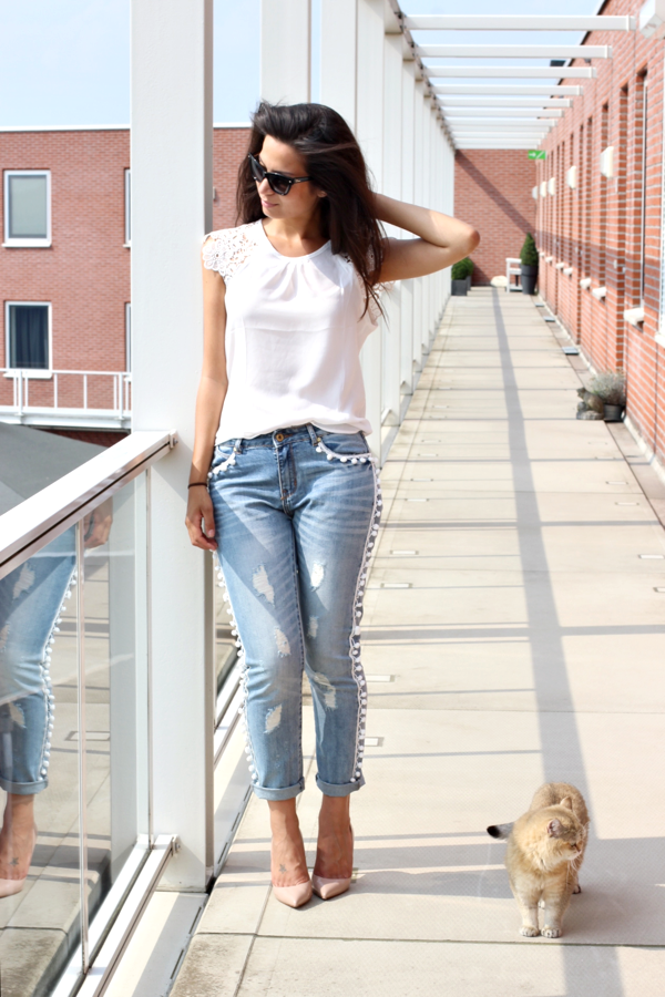 diy pom pom jeans-4