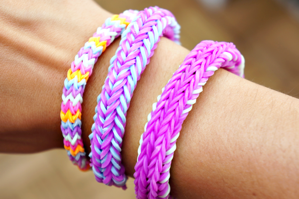 rainbow loom nederlands unicorn tail bracelet-1