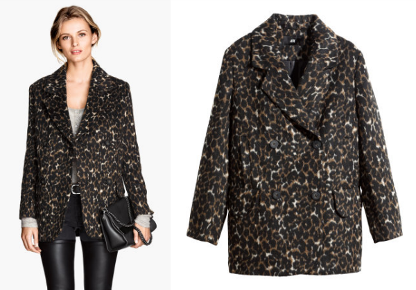 hm leopard coat