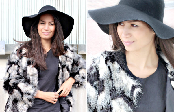 Floppy Hat & Faux Fur