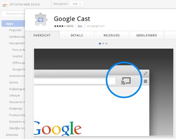 google cast downloaden
