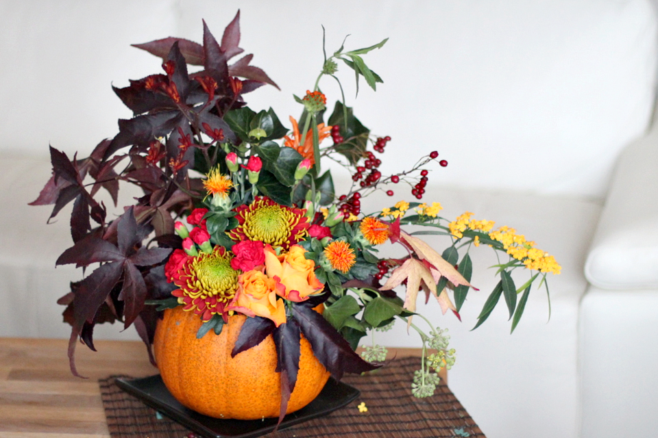 Diy herfstdecoratie in een pompoen for Decoratie herfst