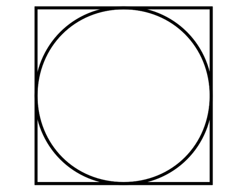 rondje in vierkant