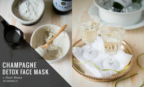 champagne face mask