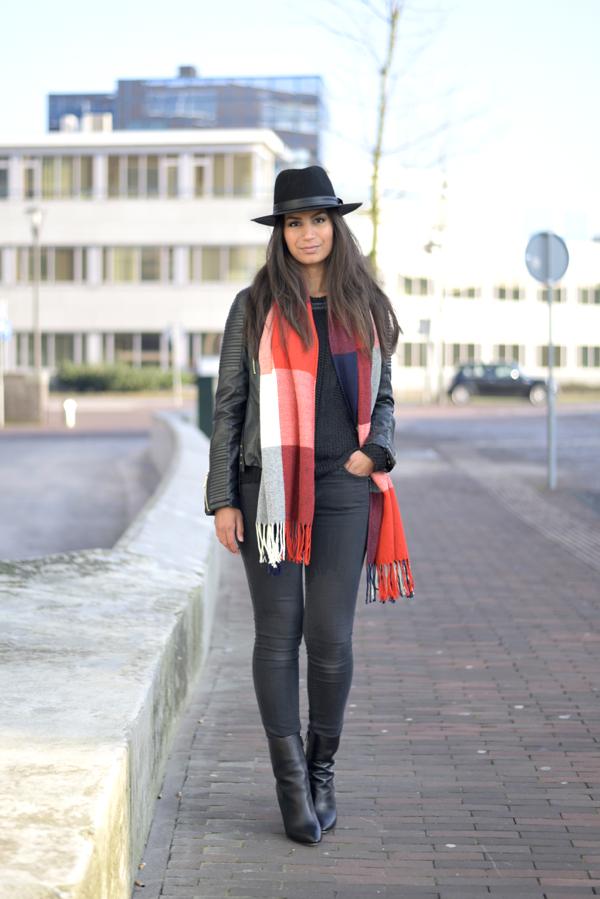 ootd_tartan scarf_1