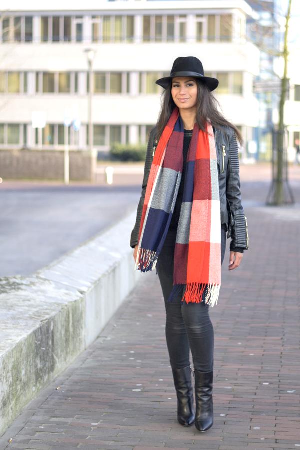 ootd_tartan scarf_2