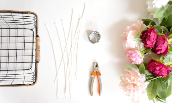 DIY bloemenmandje - 2