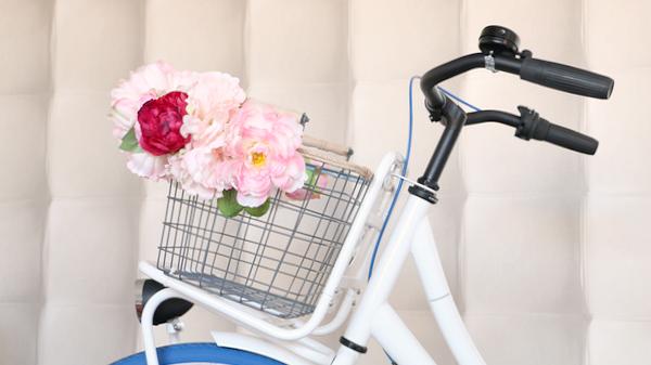 bloemenmandje op fiets - 2
