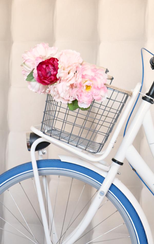 bloemenmandje op fiets - 3