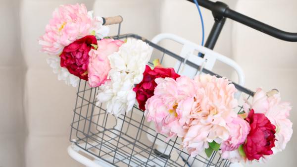 bloemenmandje op fiets - 5