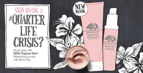 origins rose clay mask