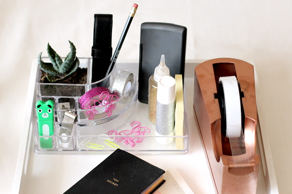 van make-up bakje naar desk organizer - 6