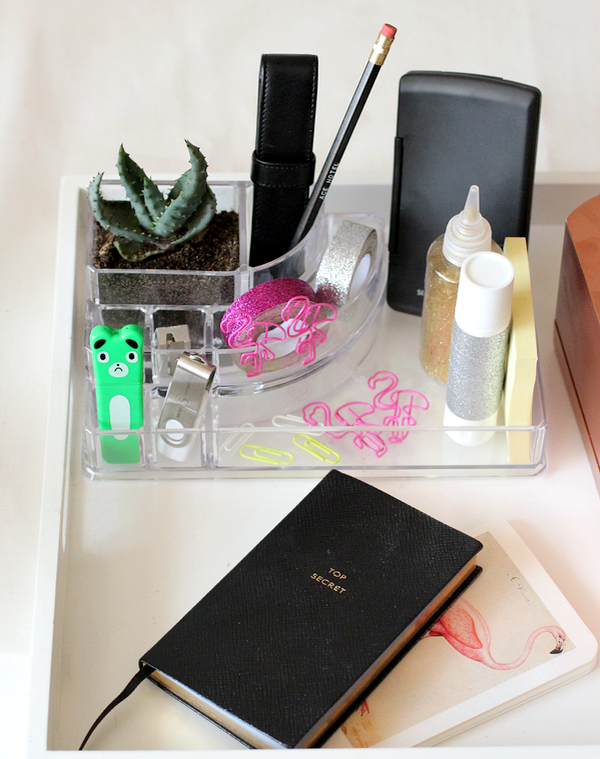 van make-up bakje naar desk organizer - 7