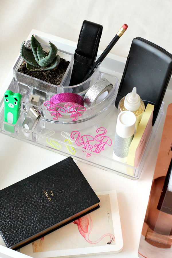 van make-up bakje naar desk organizer - 9