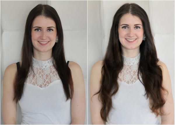 voor en na clip-ins