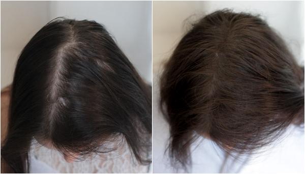 voor en na volume hair plus