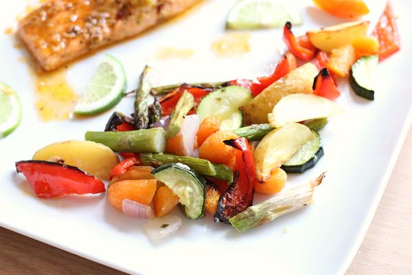 Exotische zalmfilet met gegrilde groenten - 20