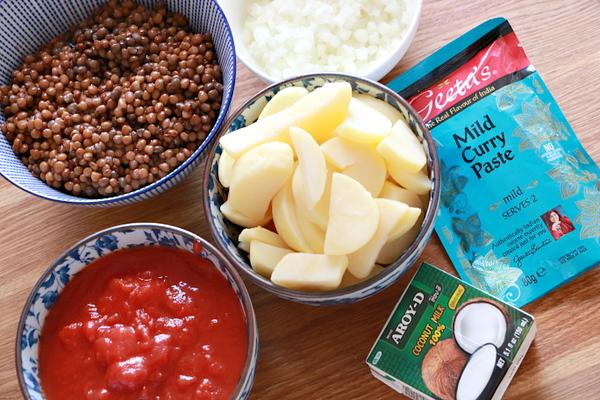 rode vegetarische curry recept - 1