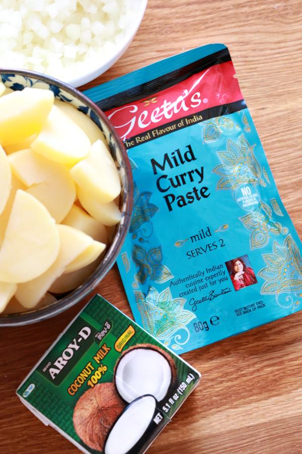 rode vegetarische curry recept - 2