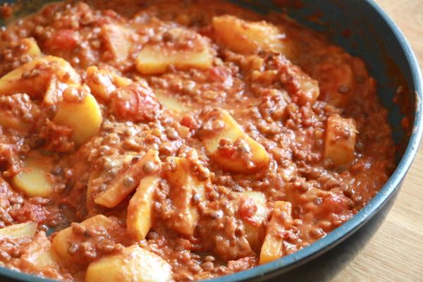 rode vegetarische curry recept - 4