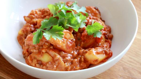 rode vegetarische curry recept - 5