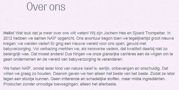 Over Ons, Naif